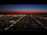 Посадка самолета в Лос-Анджелесе. Вид из кабины пилота.